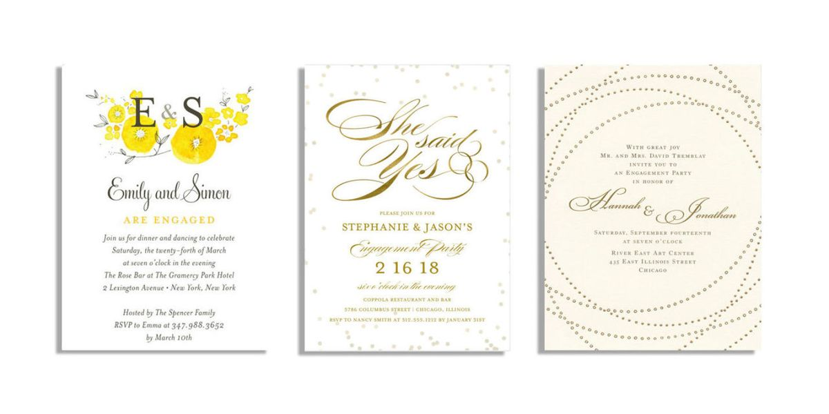 20 Best Engagement Party Invitations - Engagement Announcement ...