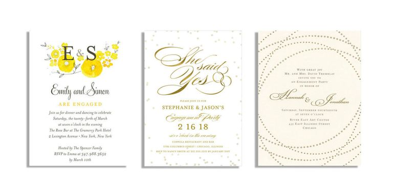 20 best engagement party invitations engagement announcement card engagement party invitations stopboris Image collections