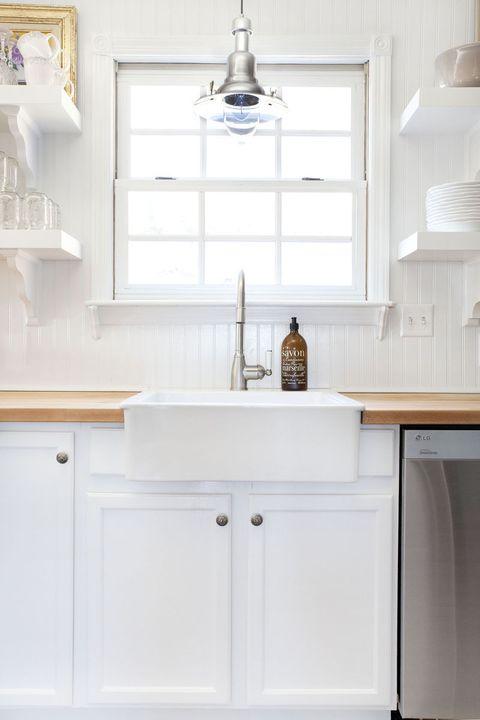 Room, White, Interior design, Wall, Cabinetry, Light fixture, Interior design, Cupboard, Home, Aqua,