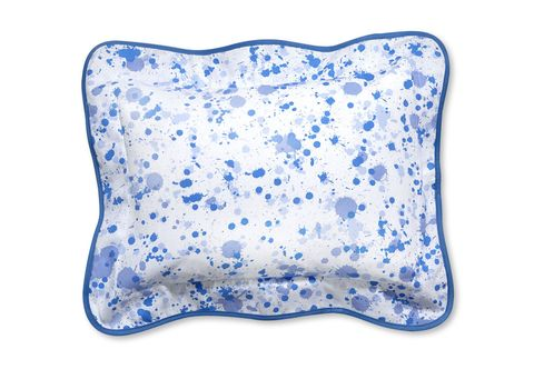Blue, Textile, Cushion, White, Throw pillow, Pillow, Home accessories, Electric blue, Cobalt blue, Linens,