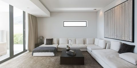 Room, Floor, Interior design, Flooring, Wood, Property, Wall, Furniture, Couch, Ceiling,
