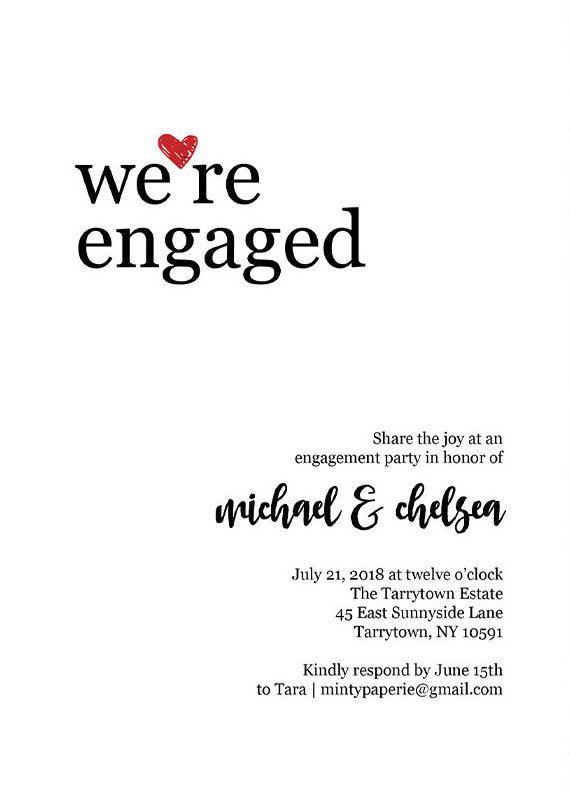 20 best engagement party invitations engagement announcement card