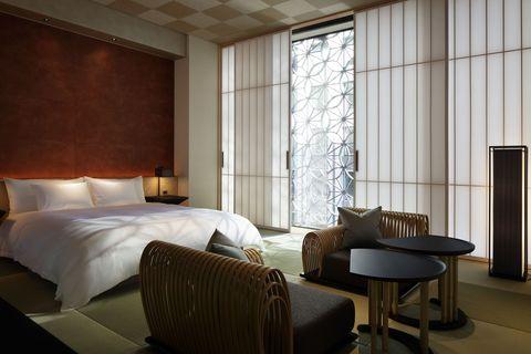 Room, Interior design, Floor, Property, Bed, Textile, Wall, Flooring, Furniture, Bedding,
