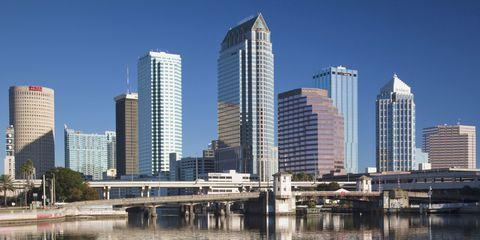 Tower block, Reflection, Metropolitan area, Condominium, Architecture, City, Water, Urban area, Skyscraper, Metropolis,