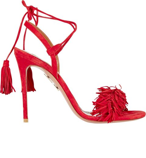 fringe aquazzura sandals