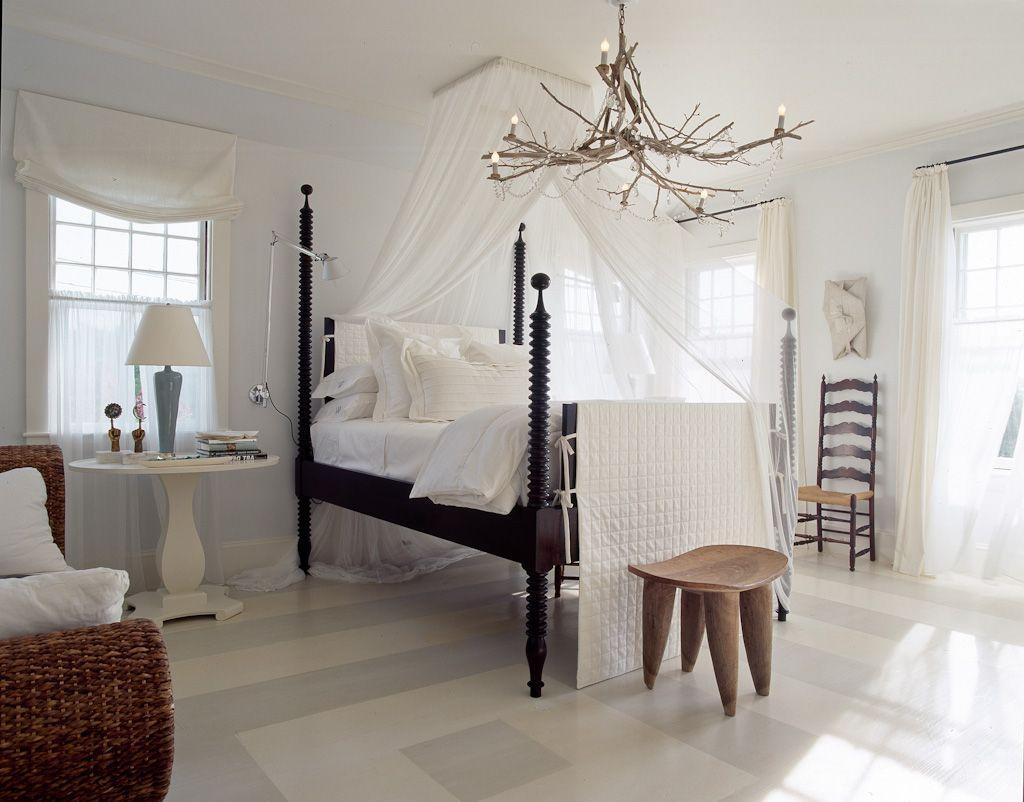 4 Poster Bed Canopy Part - 37: Elle Decor