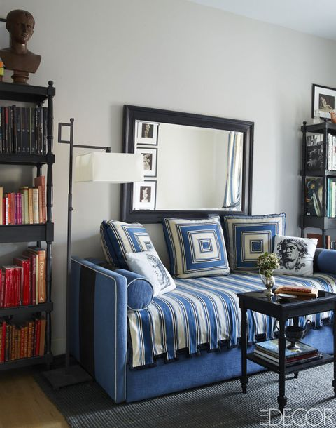 Blue, Room, Interior design, Wall, Floor, Home, Furniture, Flooring, Shelving, Shelf,