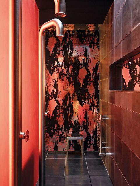 Floor, Fixture, Door, Handle, Household hardware, Door handle, Tile, Home door,