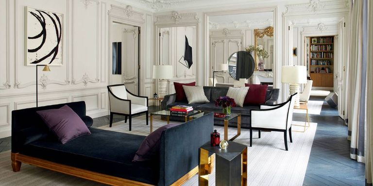 paris living room. A young French American design firm brings a fresh vision of luxury to  grand 19th century apartment in Paris infusing it with light and air Glamorous Apartment Champeau Wilde Design