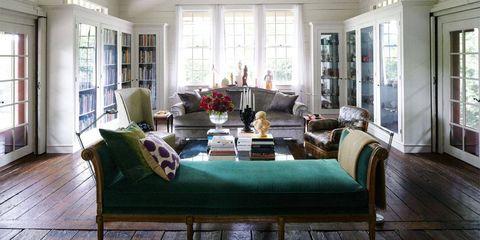 Green, Wood, Interior design, Room, Floor, Flooring, Living room, Home, Couch, Hardwood,