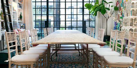 Interior design, Room, Table, Floor, Furniture, Interior design, Ceiling, Glass, Fixture, Daylighting,