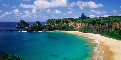 Body of water, Coastal and oceanic landforms, Coast, Natural landscape, Water, Cloud, Landscape, Shore, Rock, Beach,