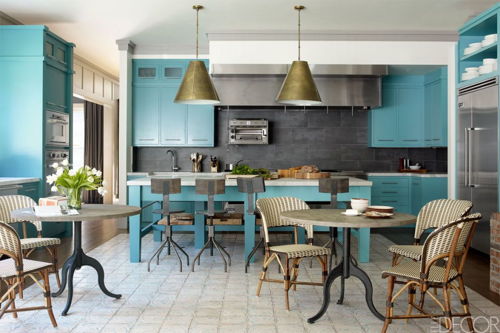 Delicieux Blue Kitchens. William Waldron. Majestic Blue Kitchen Island