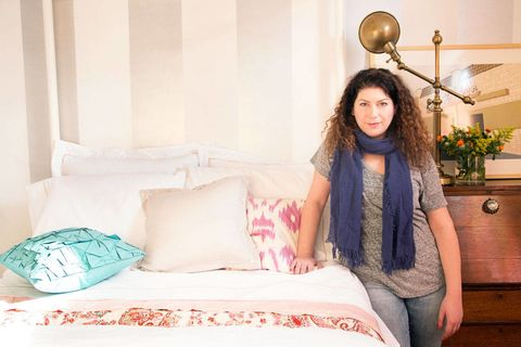 Lighting, Room, Interior design, Textile, Linens, Bedroom, Bedding, Bed, Bed sheet, Interior design,