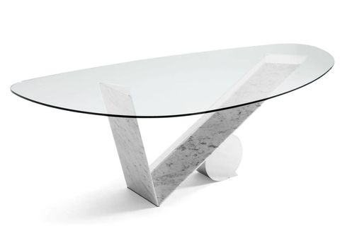Grey, Coffee table, Natural material, Silver, Oval, Steel, Still life photography, Aluminium, Plywood,