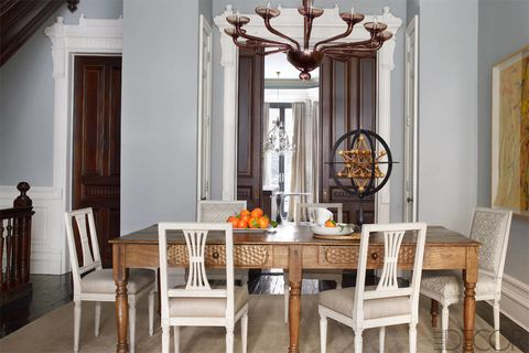 Room, Interior design, Furniture, Table, Chair, Dining room, Interior design, Hardwood, Molding, Home,