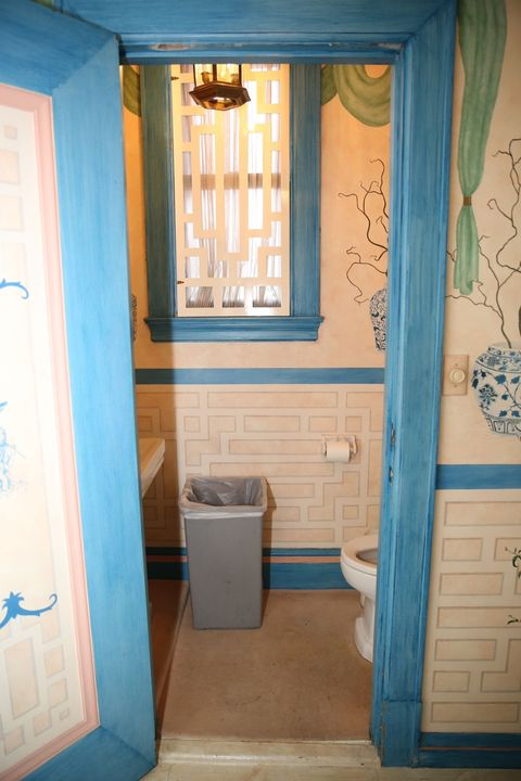 Blue, Floor, Room, Flooring, Interior design, Property, Wall, Ceiling, Interior design, Tile,