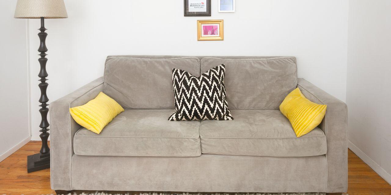 image & Sofa Makeover - How To Decorate A Sofa