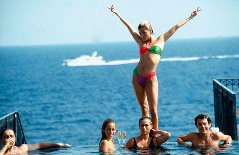 Hair, Head, Fun, Water, Leisure, Swimwear, Tourism, Mammal, Brassiere, Summer,