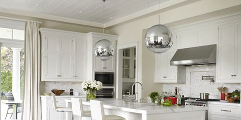 elegant and expressive light fixtures set the stage for your best meal yet - Kitchen Lighting Design Ideas Photos