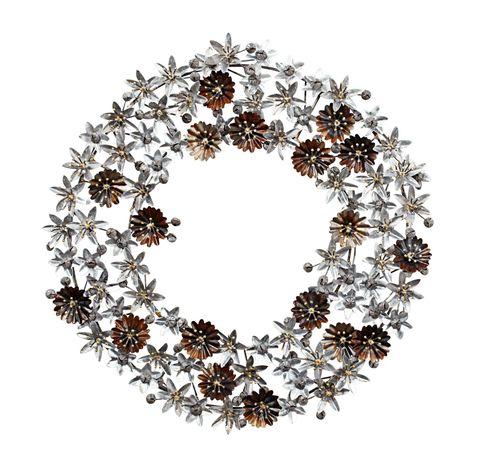 festive lily wreath