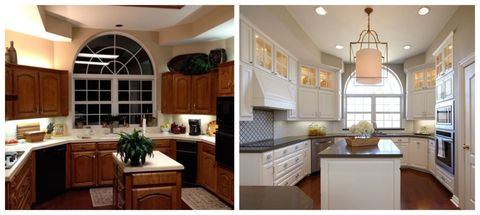 dated kitchen makeover