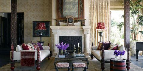 Interior design, Room, Floor, Chandelier, Living room, Table, Furniture, Ceiling, Interior design, Light fixture,