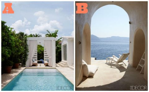 Property, Architecture, Swimming pool, Flowerpot, Real estate, Arch, Azure, Composite material, Rectangle, Shade,