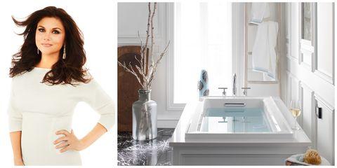 Fluid, Property, Shoulder, Plumbing fixture, Tap, Interior design, Bathtub accessory, Glass, Interior design, Bathroom accessory,
