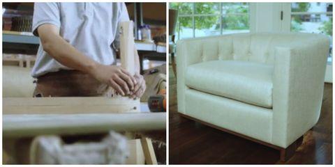 Interior design, Floor, Couch, Room, Flooring, Living room, Beige, studio couch, Home, Clay,