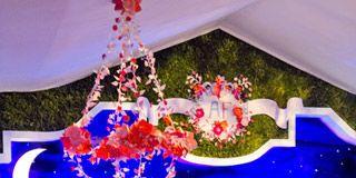 Pink, Magenta, Performance, World, Light fixture, Majorelle blue, Stage, Public event, Tradition, Music venue,