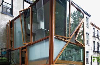 Wood, Glass, Architecture, Property, Real estate, Wall, Facade, Fixture, Daylighting, Iron,