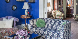 Blue, Room, Interior design, Living room, Property, Furniture, Floor, Wall, White, Home,
