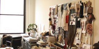 Room, Wood, Interior design, Property, Furniture, Clothes hanger, Interior design, Drawer, Houseplant, Home,