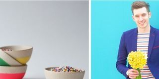 Blue, Yellow, Serveware, Dishware, Photograph, Bowl, Facial expression, Mixing bowl, Electric blue, Aqua,