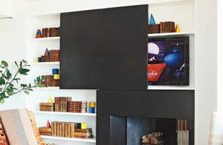 Room, Display device, Property, Interior design, Wall, Shelving, Electronic device, Shelf, Flat panel display, Home,