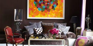 Room, Interior design, Furniture, Purple, Living room, Interior design, Home, Violet, Magenta, Lavender,