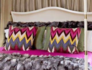 Brown, Textile, Purple, Room, Pink, Magenta, Linens, Interior design, Violet, Pattern,