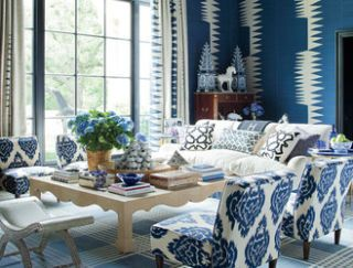 Blue, Room, Interior design, Property, Table, Furniture, Living room, Floor, Home, Wall,