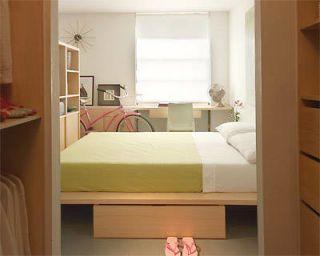 Double Duty Room Divider: Bedroom