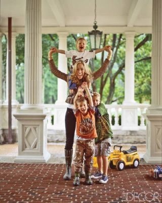 Home Decorating A Manor House With Family Friendly Ease