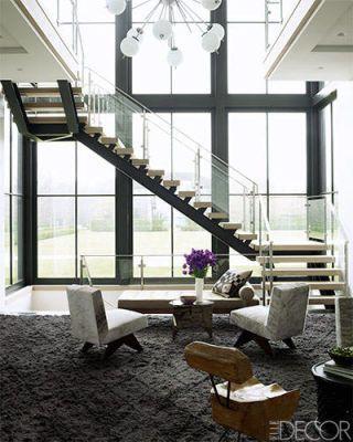 Interior design, Glass, Architecture, Floor, Room, Stairs, Ceiling, Daylighting, Interior design, Fixture,