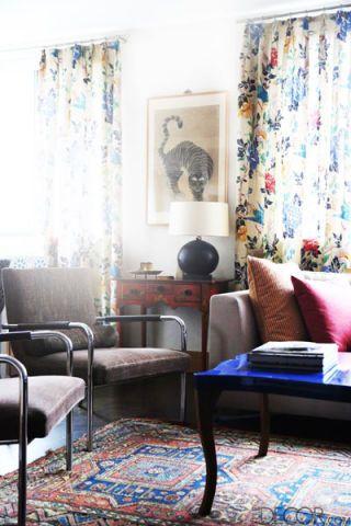 Blue, Interior design, Room, Floor, Textile, Furniture, Flooring, Wall, Living room, Home,