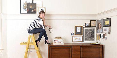 Wood, Room, Picture frame, Flooring, Wood stain, Ladder, Interior design, Knee, Hardwood, Varnish,