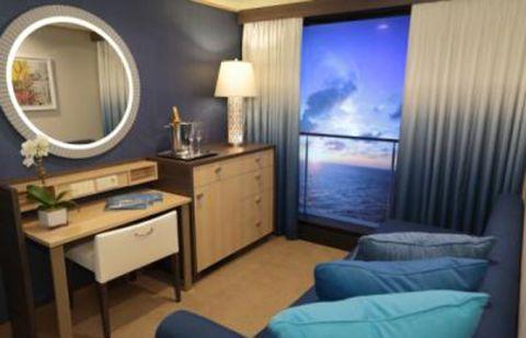 Blue, Room, Interior design, Lighting, Product, Property, Wall, Drawer, Furniture, Floor,