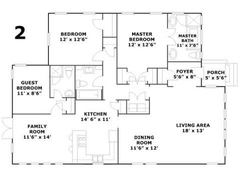 A Ranch Revival Floor Plans
