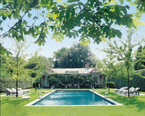 Property, Swimming pool, Real estate, Garden, Shade, Composite material, Lawn, Yard, Villa, Rectangle,