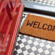 Rectangle, Tan, Beige, Home accessories, Mat, Door mat, Snack, Baked goods,