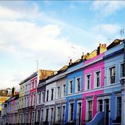 Facade, Neighbourhood, Town, Building, Colorfulness, Mixed-use, Urban design, Door, Material property, Apartment,