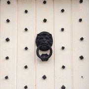 Black, Parallel, Iron, Symmetry, Door knocker,